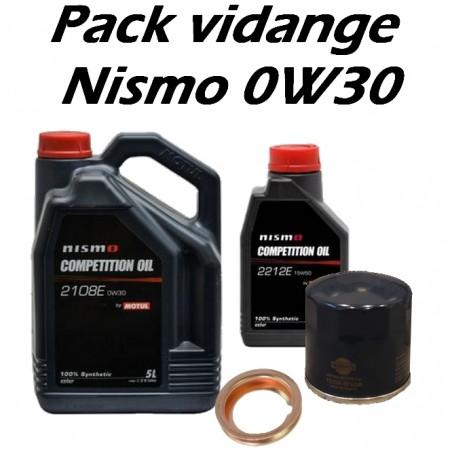 Pack de vidange Nismo 0W30 pour Nissan
