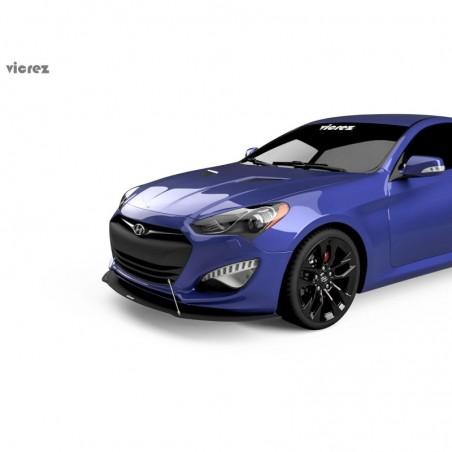 Hyundai Genesis Coupe 2013-2015 VZ1 Style Lame de pare-choc avant vz100952