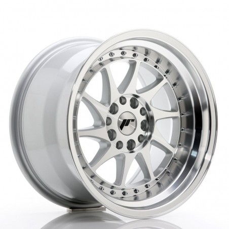 "Japan Racing JR-26 17x10"" 5x114.3/120 ET20, Gris Argenté / Poli"