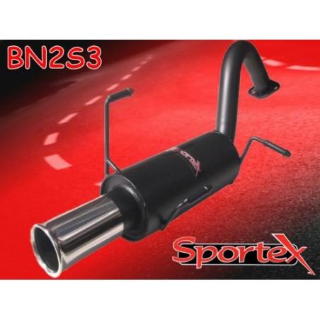 Silencieux d'échappement Sortie S3 Sportex pour Nissan Micra K11E 1998-2002
