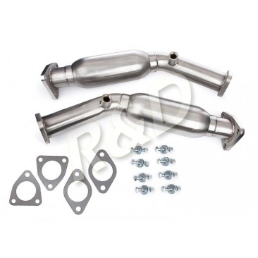 Test pipe with resonator pour Nissan 350Z