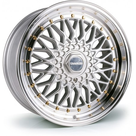 Dare DR RS (Silver Polished / Gold Rivets) - 17x10 5x112, 5x120 ET15 CB72.6