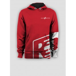 Sweat rouge et logo blanc