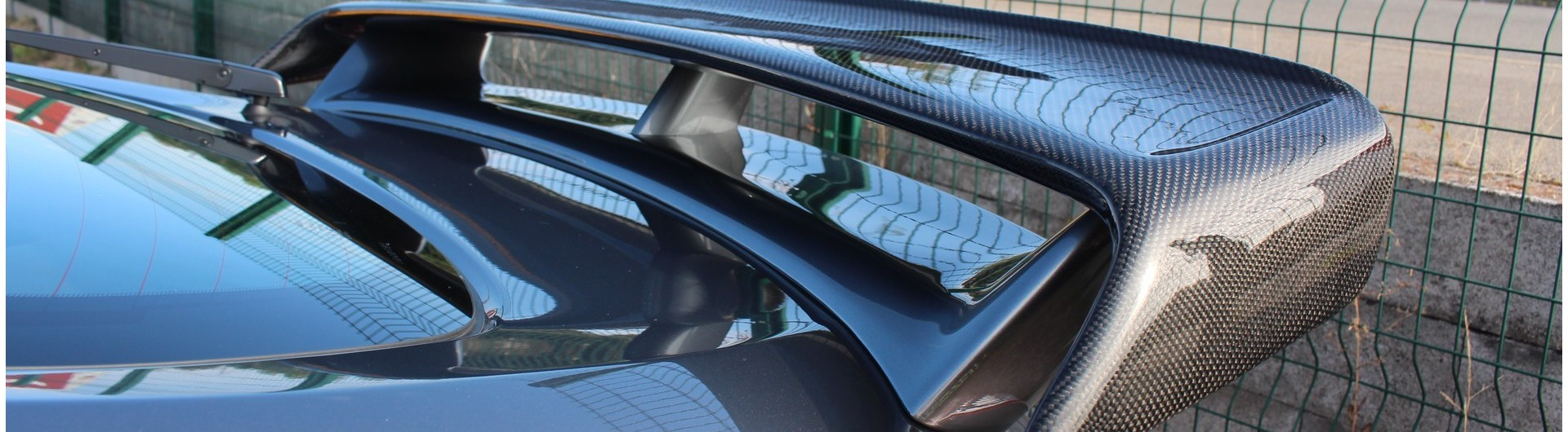 kit carrosserie spoiler aileron carbone lame